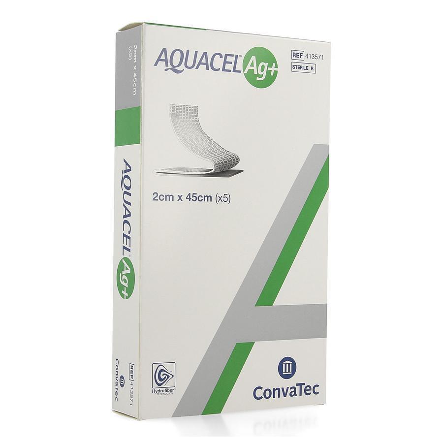 Image of Aquacel Ag+ Extra hydrofiber Pansement 2x45cm