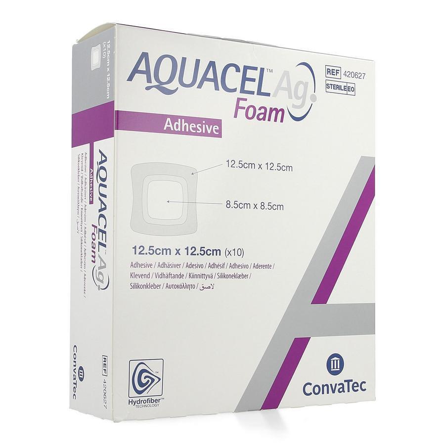 Image of Aquacel Ag foam adhésif 12,5x12,5cm