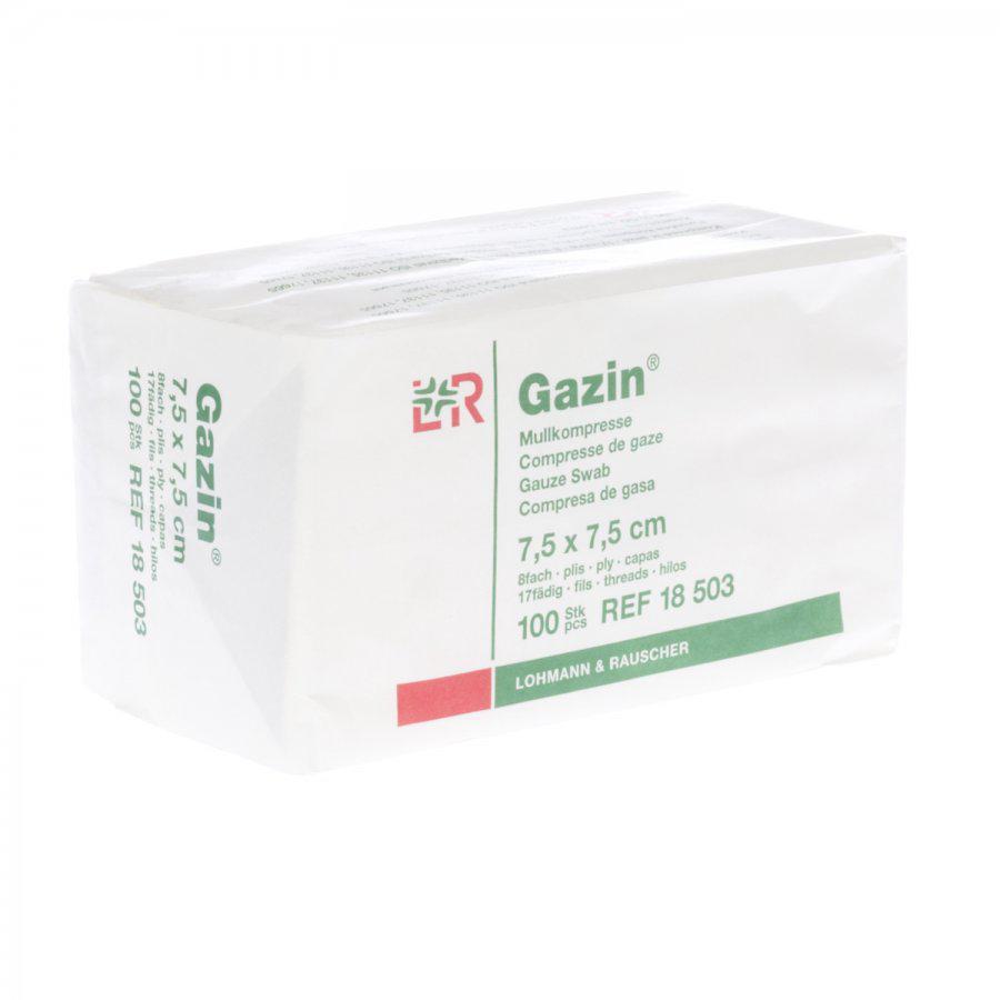 Image of Gazin kompressen 7,5x7,5cm