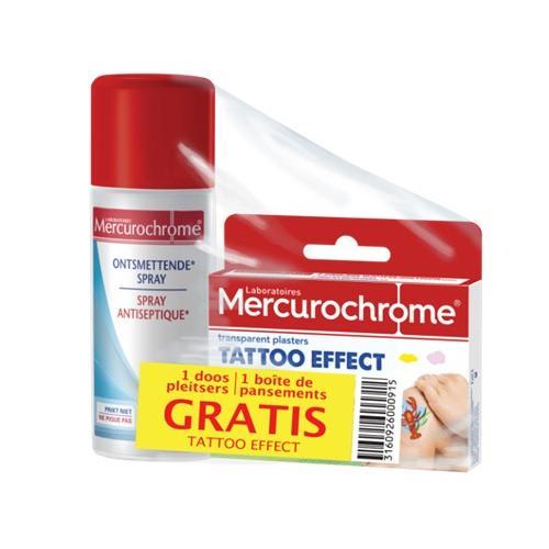 Image of Mercurochrome Ontsmettende spray + Tattoo pleisters Promo