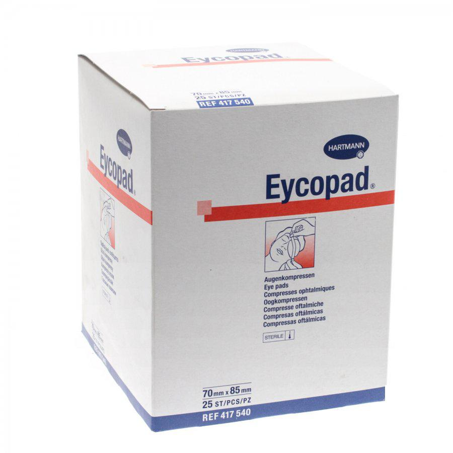 Image of Eycopad Oogkompressen steriel 70mmx85mm