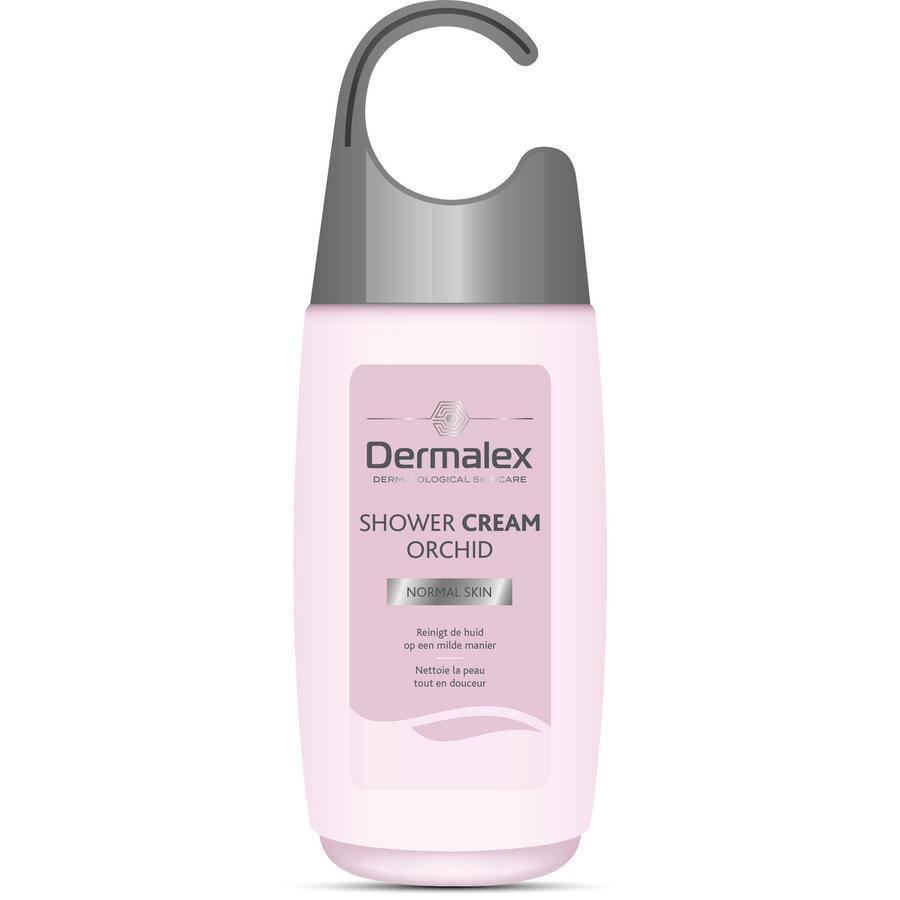 Image of Dermalex Crème de douche douce orchidée