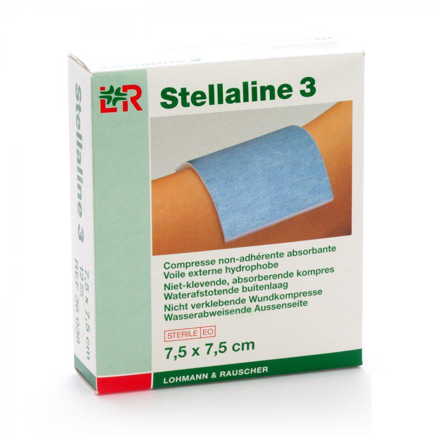 Image of Stellaline 3 kompressen 7,5x7,5cm