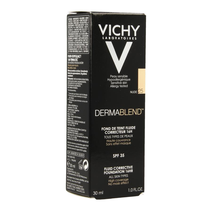 Vichy Dermablend Foundation Fluid 25 Nude 30ml