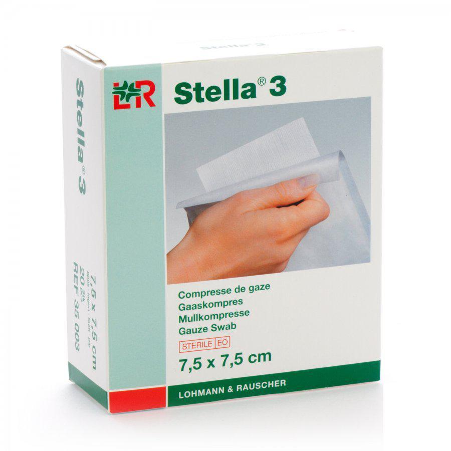Image of Stella 3 kompressen 7,5x7,5cm