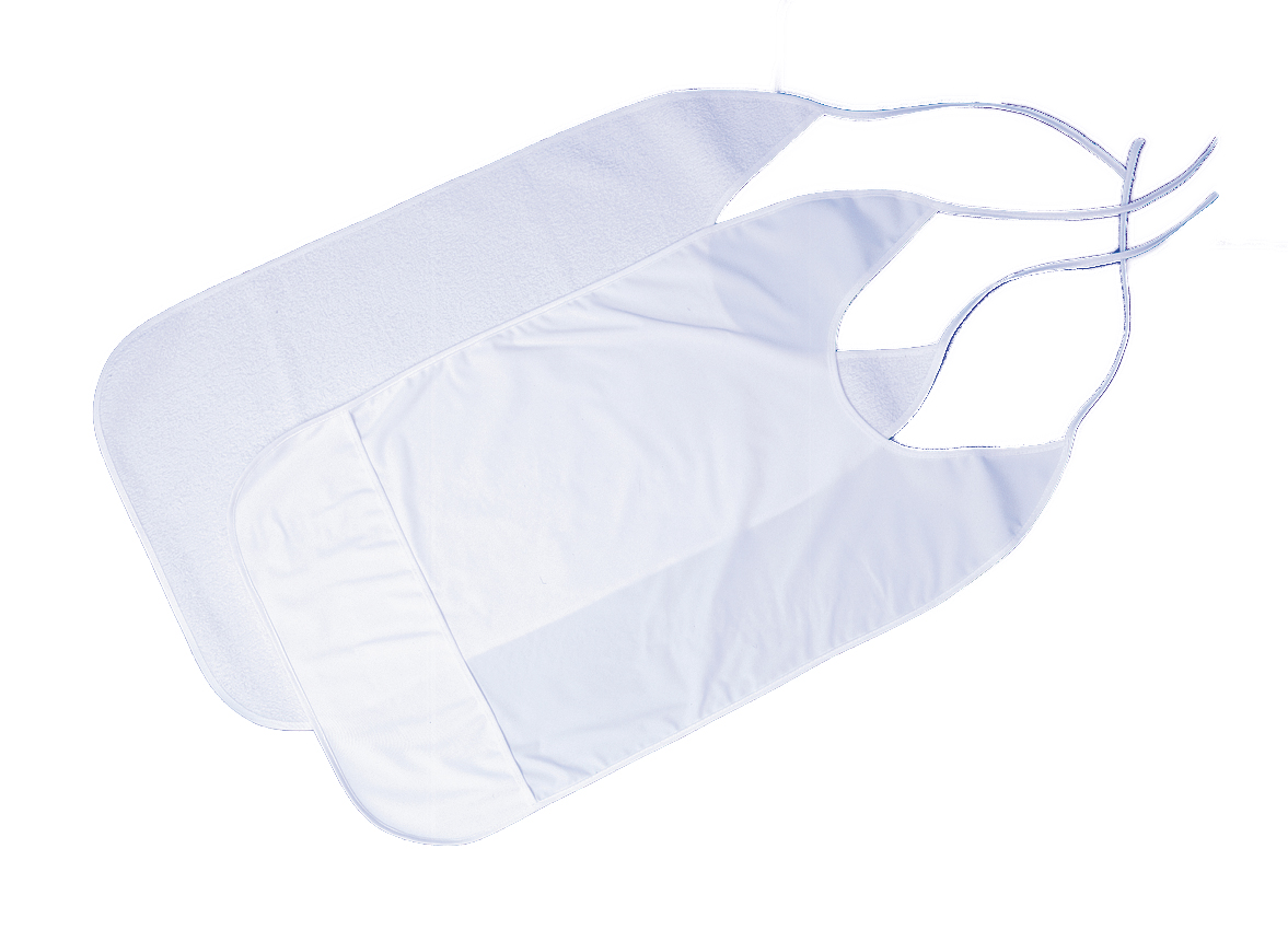 Slabbetje wit PVC met kruimelvak