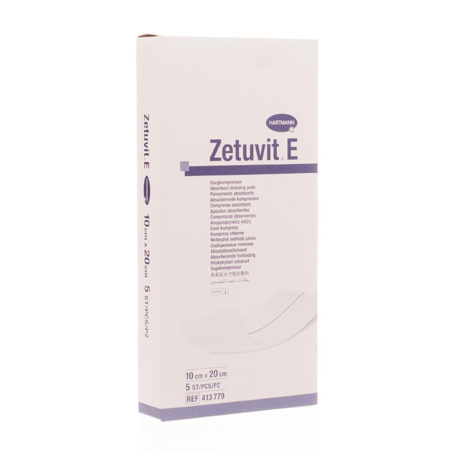Zetuvit E steriele absorberende kompressen 10x20cm