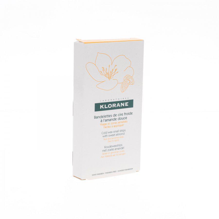 Image of Klorane bandelettes de cire froide à l'amande douce