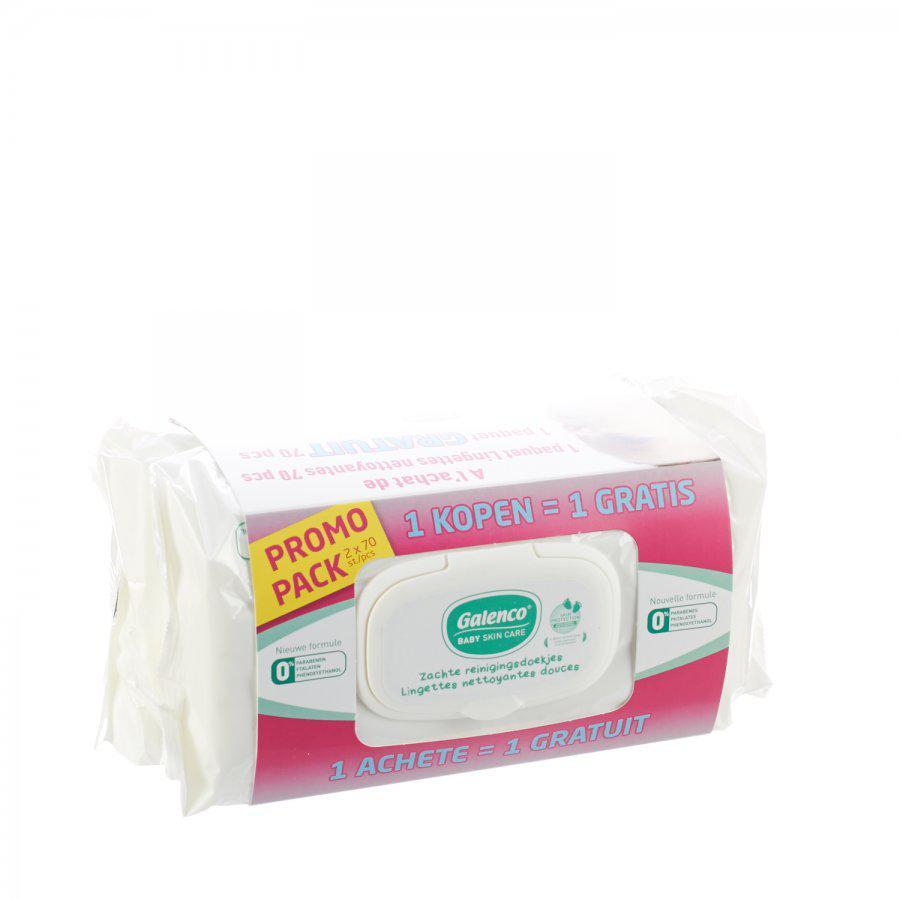 Image of Galenco baby care lingettes nettoyantes promo 1+1 gratuit