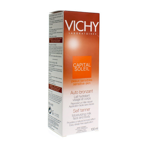 Vichy Zelfbruiner Hydraterende Melk Gezicht En Lichaam 100ml