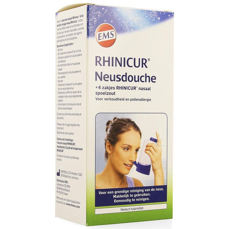 Rhinicur neusdouche + 4 zakjes