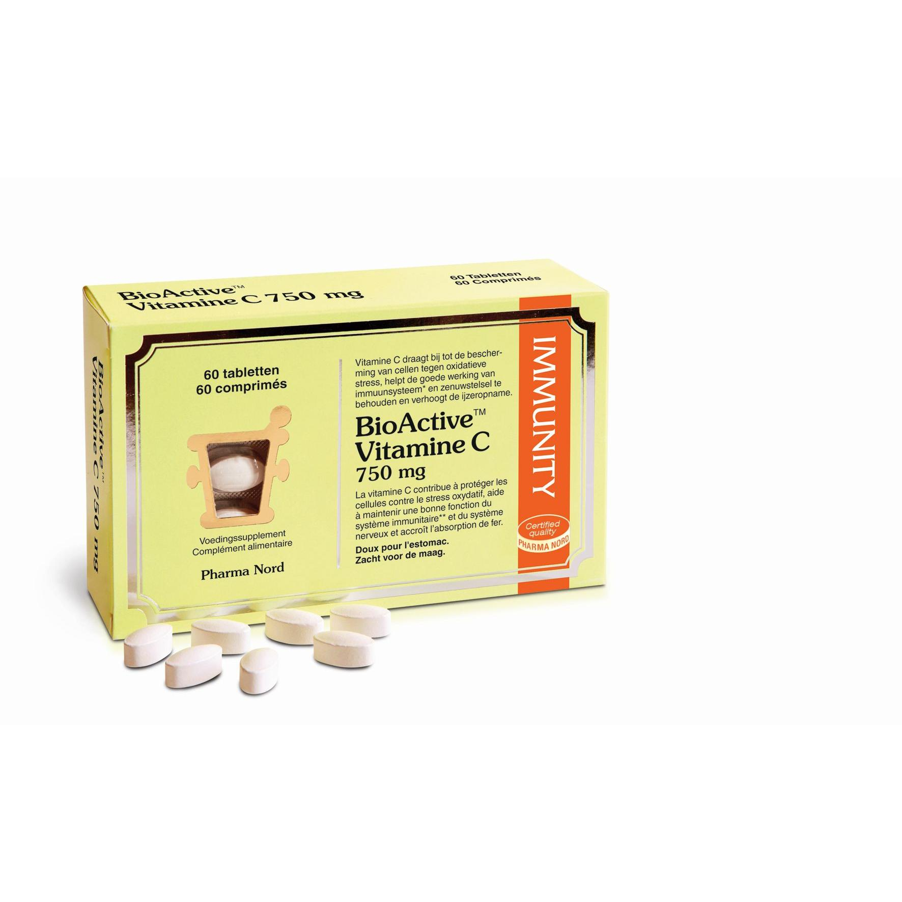 Image of Bioactive vitamine C 750mg Pharma Nord