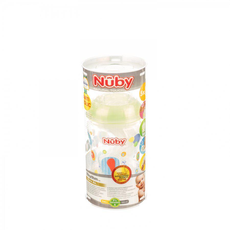 Image of Nûby biberon anti-colique de voyage 0 mois+