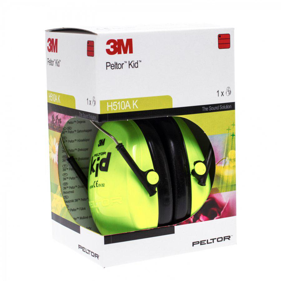 3M Peltor Hearing Protector Kid Neon Green 1 Stuk