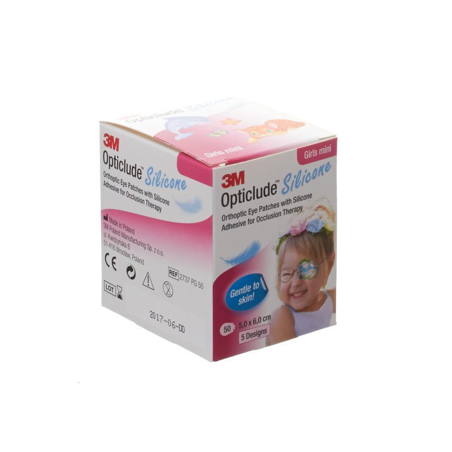 3M Opticlude Silicone Eye Patch Girl Mini 50 Stuks