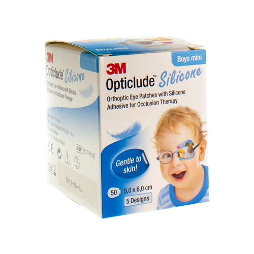 3M Opticlude Silicone Oogpleister Boy Mini 50 Stuks