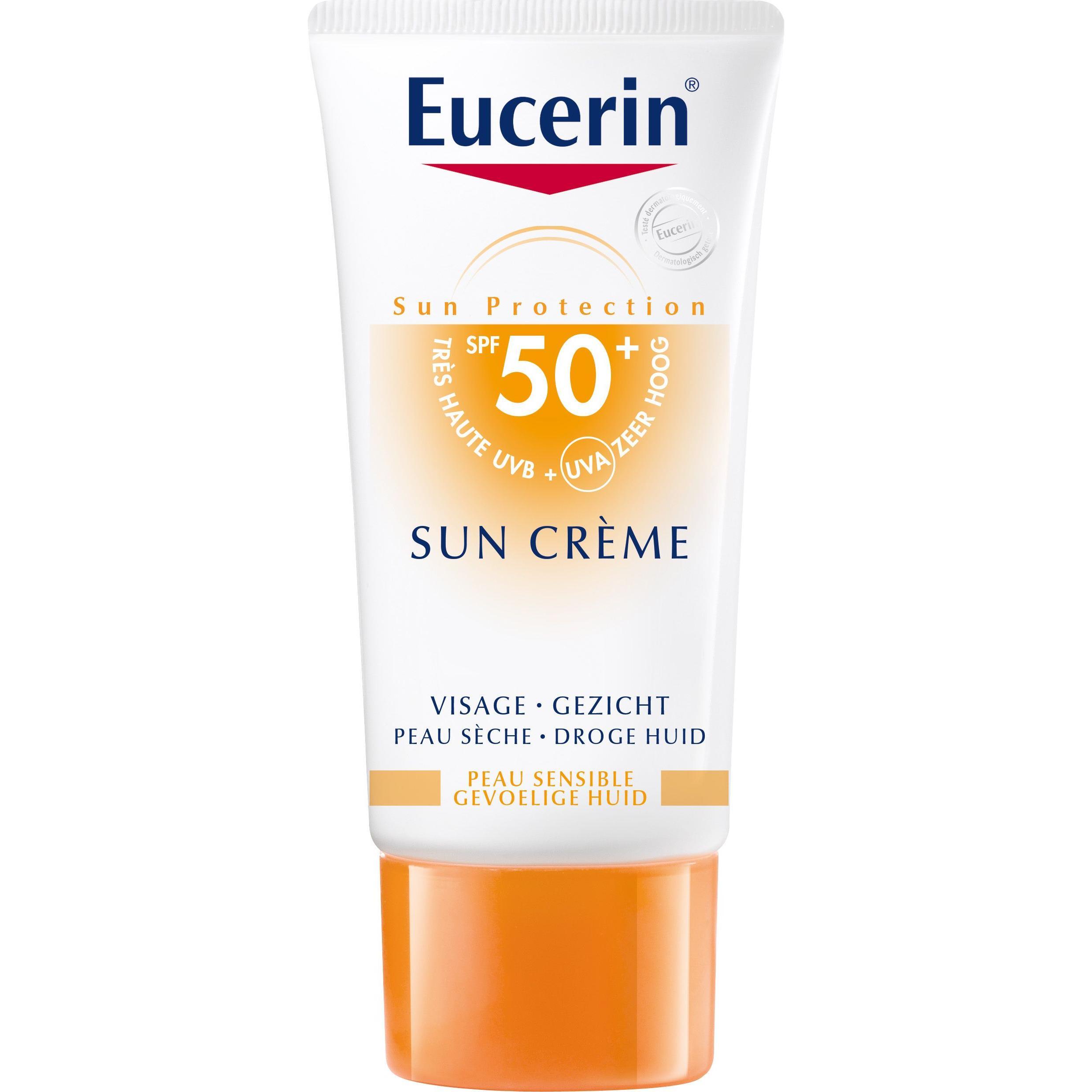 Eucerin Zonnebrand Creme Face Factor(spf)50+ 50ml