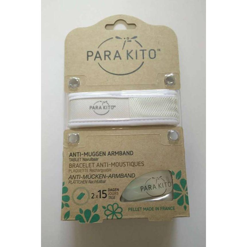 Parakito Anti-Muggen Armband Groot Model wit