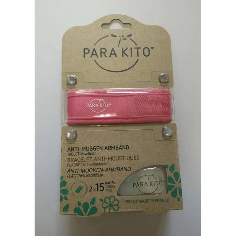 Parakito Anti-Muggen Armband Groot Model roos