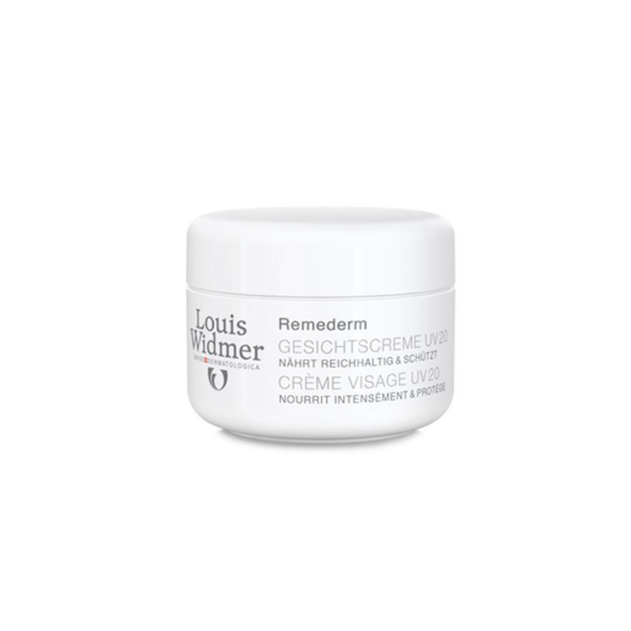 Louis Widmer Remederm gezichtscrème zonder parfum UV20