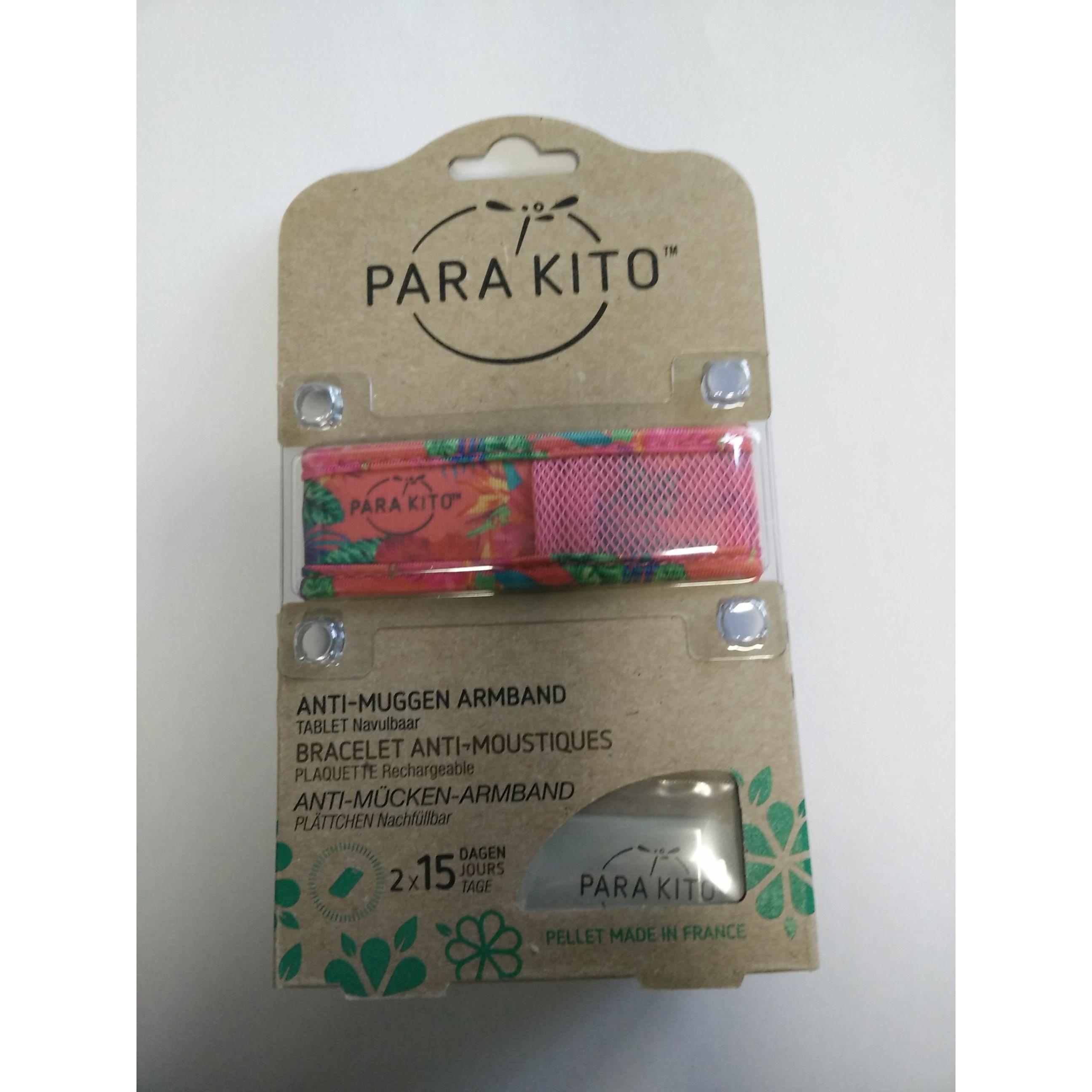 Parakito Anti-Muggen Armband Graffic Groot Model roos-bloemen