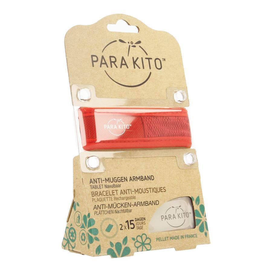 Parakito Anti-Muggen Armband Groot Model rood