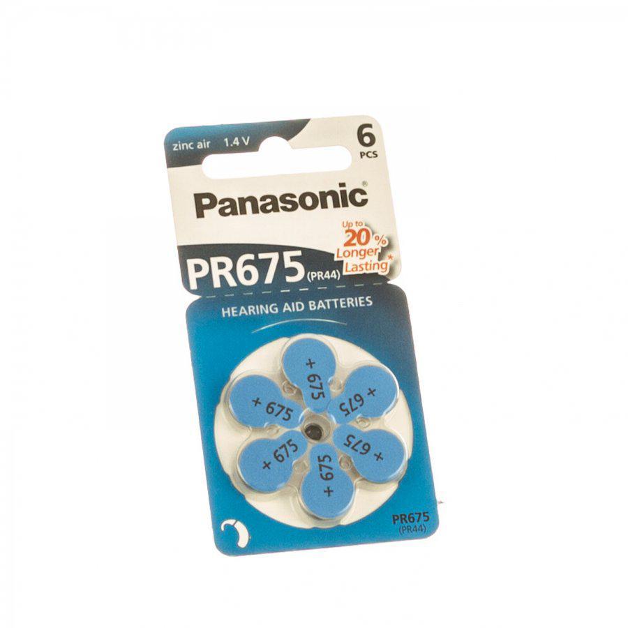 Panasonic gehoorbatterij PR675 blauw
