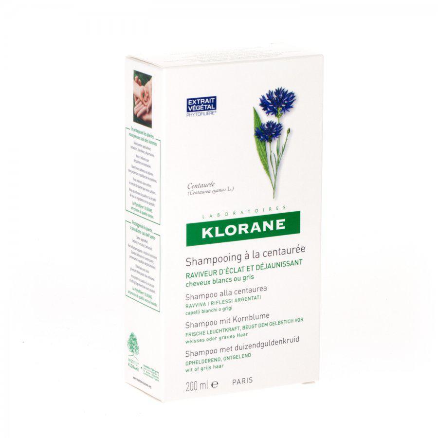Klorane Shampoo Duizendguldenkruid Wit Haar Fles 200ml