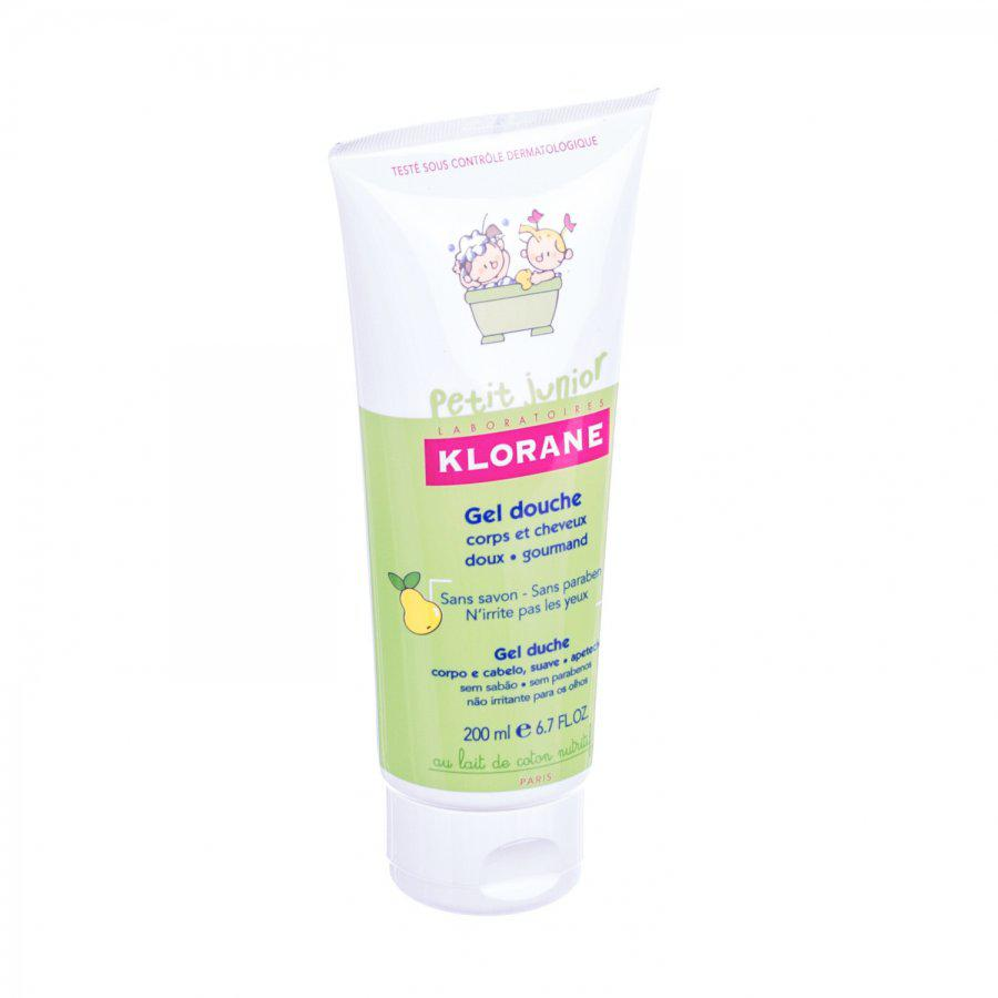 Klorane Petit Junior Douche Gel Lichaam En Haar Peer Tube 200ml