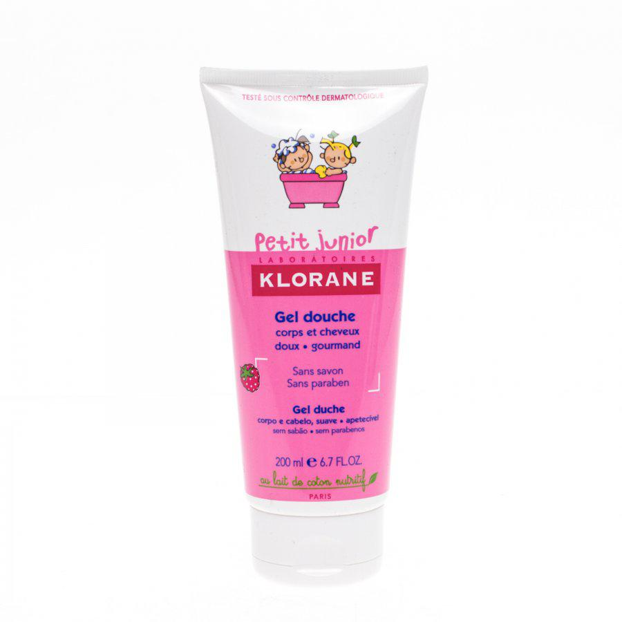Klorane Petit Junior Douche Gel Lichaam En Haar Framboos Tube 200ml