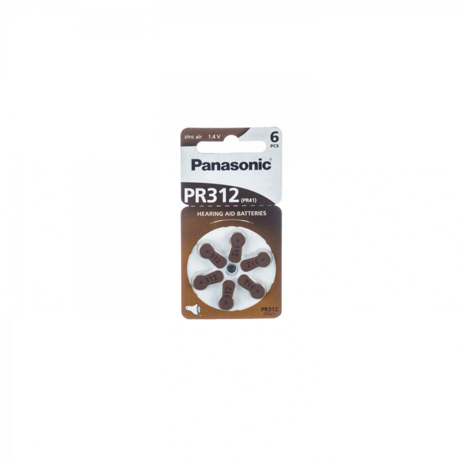 Panasonic gehoorbatterij PR312 bruin