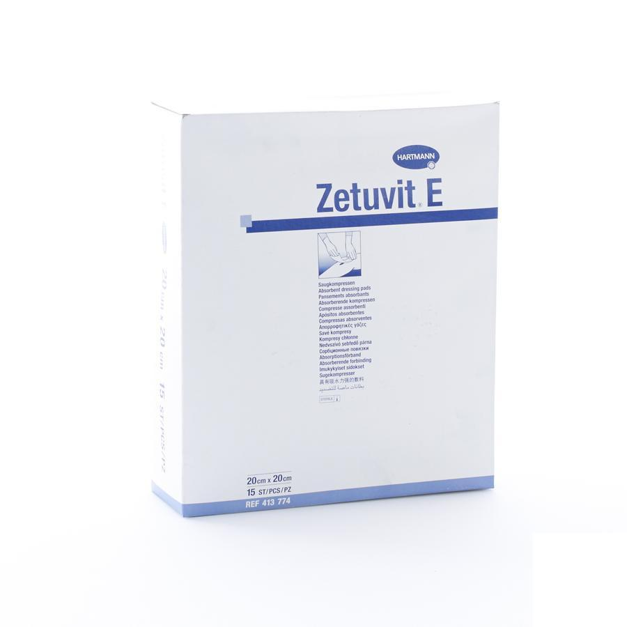 Hartmann Zetuvit E Absorberende Kompressen Steriele 20x20cm 15 Stuks (4137742)