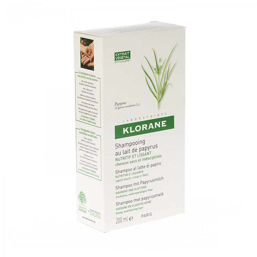 Klorane Shampoo Met Papyrusmelk Fles 200ml