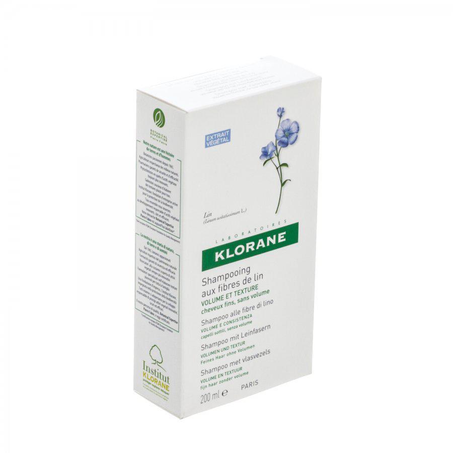 Klorane Shampoo Vlasvezel Fles 200ml